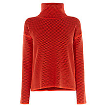 Buy Karen Millen Geo Pattern Jumper, Orange Online at johnlewis.com