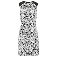 Buy Warehouse Daisy Sleeveless Dress, Black Pattern Online at johnlewis.com