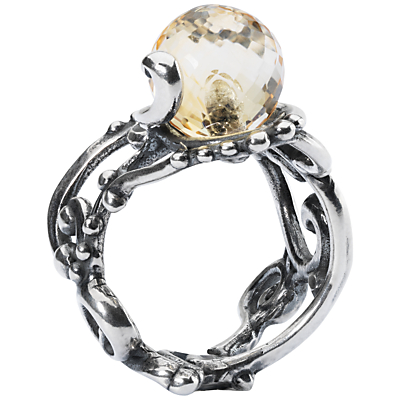 Trollbeads Citrine Facet Ring, Pale Yellow