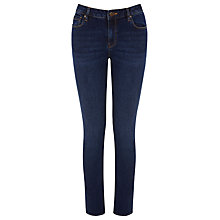 Buy Warehouse Relaxed Skinny Jeans, Mid Wash Denim Online at johnlewis.com
