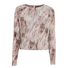 Buy ST Studio Feather Print Blouse, Multi Online at johnlewis.com