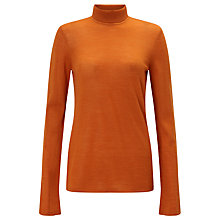 Buy ST Studio Long Sleeve Turtle Neck Wool Jumper, Brick Melange Online at johnlewis.com