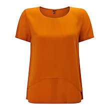 Buy ST Studio Layered Short Sleeve Blouse, Brick Online at johnlewis.com