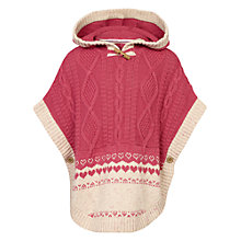 Buy Fat Face Girls' Poncho, Red Bud Online at johnlewis.com