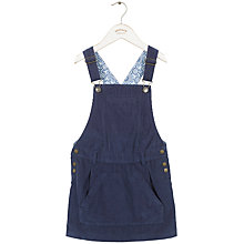 Buy Fat Face Girls' Corduroy Dungaree Dress, Light Navy Online at johnlewis.com