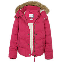 Buy Fat Face Girls' Ellie Coat, Red Bud Online at johnlewis.com