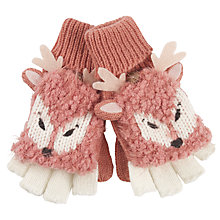 Buy Fat Face Children's Deer Mittens, Pink Online at johnlewis.com