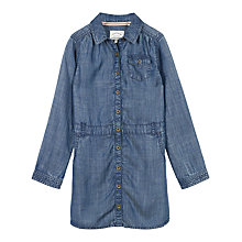 Buy Fat Face Girls' Denim Shirt Dress, Blue Online at johnlewis.com