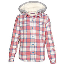 Buy Fat Face Girls' Check Shirt Jacket, Dusky Pink Online at johnlewis.com