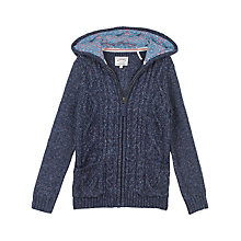 Buy Fat Face Girls' Alicia Knitted Hoodie Online at johnlewis.com
