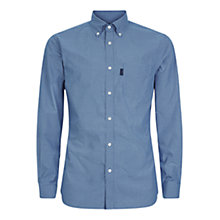 Buy Aquascutum Orville Micro Check Shirt, Blue Online at johnlewis.com