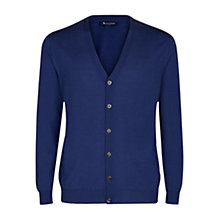 Buy Aquascutum Chadwick Merino Cardigan, Blue Online at johnlewis.com