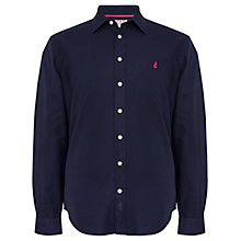 Buy Thomas Pink Drake Plain Long Sleeve Shirt, Navy Online at johnlewis.com