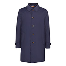 Buy Aquascutum Harding Showerproof Padded Raincoat, Navy Online at johnlewis.com