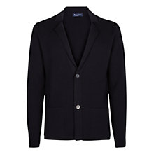 Buy Aquascutum Walter Merino Wool Cardigan, Navy Online at johnlewis.com