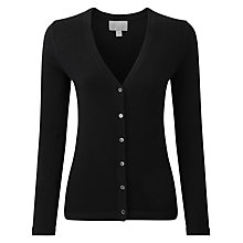 Buy Pure Collection Rene Cashmere V Neck Cardigan, Black Online at johnlewis.com