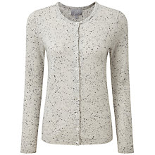 Buy Pure Collection Hambleton Cashmere Cardigan, Heather Grey Fleck Online at johnlewis.com