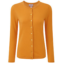 Buy Pure Collection Jasmin Crew Neck Cardigan, Marigold Online at johnlewis.com