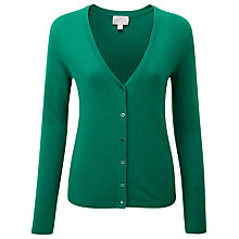 Buy Pure Collection Savannah Cashmere V Neck Cardigan, Juniper Online at johnlewis.com