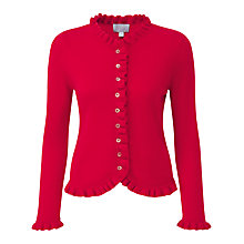 Buy Pure Collection Gwynne Cashmere Cardigan, Pillarbox Red Online at johnlewis.com