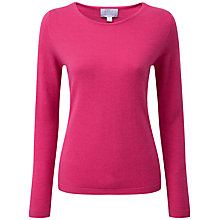Buy Pure Collection Bennett Cashmere Jumper, Cerise Online at johnlewis.com