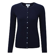 Buy Pure Collection Crew Neck Cashmere Cardigan Online at johnlewis.com
