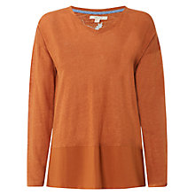 Buy White Stuff Nazelle Longsleeved Linen Jersey T-Shirt Online at johnlewis.com
