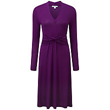 Buy Pure Collection Cara Gathered Dress, Amethyst Online at johnlewis.com