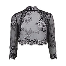Buy Gina Bacconi Scalloped Lace Bolero, Black Online at johnlewis.com