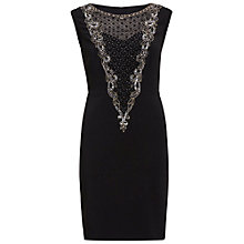 Buy Gina Bacconi Dress With Beaded Front Panel, Black Online at johnlewis.com