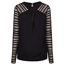 Buy Coast Belinda Jersey Top, Black Online at johnlewis.com