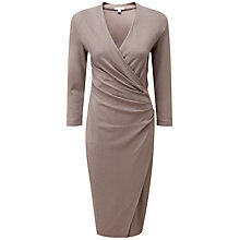 Buy Pure Collection Delilah Heavy Dress, Dark Taupe Online at johnlewis.com