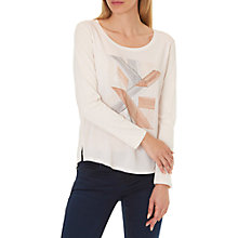 Buy Betty & Co. Oversized Top, Nature/Cream Online at johnlewis.com