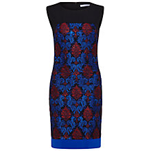 Buy Gina Bacconi Embroidered Lace Panel Dress, Royal Blue Online at johnlewis.com