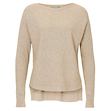 Buy Betty & Co. Ribbed Knit Top, Pumice Stone Online at johnlewis.com