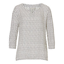 Buy Betty & Co. Printed Top, White/Black Online at johnlewis.com
