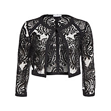 Buy Gina Bacconi Baroque Sequin Mesh Jacket, Black Online at johnlewis.com