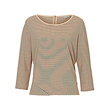 Buy Betty & Co. Striped Top, Camel/Black Online at johnlewis.com