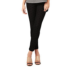 Buy Phase Eight Victoria Geo Flocked Jeans, Black Online at johnlewis.com