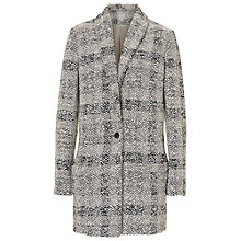 Buy Betty & Co. Cocoon Coat, Silver/Grey Online at johnlewis.com
