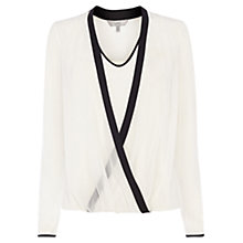 Buy Coast Tipped Tasha Top, Mono Online at johnlewis.com