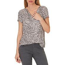 Buy Betty & Co. Printed Top, White/Grey Online at johnlewis.com