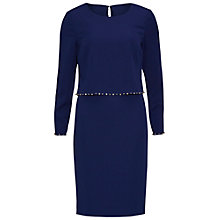 Buy Gina Bacconi Crepe Dress With Beaded Overtop Online at johnlewis.com