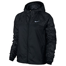 Buy Nike Shield Flash Women's Running Jacket, Black/Reflective Silver Online at johnlewis.com