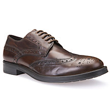 Buy Geox Blade Brogues, Brown Cotto Online at johnlewis.com