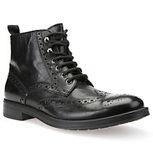 Buy Geox Blade Brogue Boots, Black Online at johnlewis.com