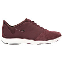 Buy Geox Nebula Trainers, Burgundy Online at johnlewis.com