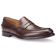 Buy Geox Hampstead Leather Loafers, Brown Cotto Online at johnlewis.com