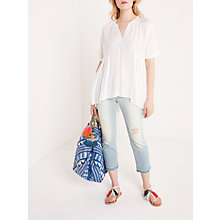 Buy AND/OR Canyon Beach Straight Cropped Jeans, Blue Sky Online at johnlewis.com