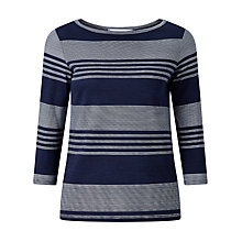 Buy John Lewis Stripe Jersey Three Quarter Sleeve Top Online at johnlewis.com